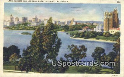 Lake Merritt & Lakeside Park - Oakland, California CA Postcard