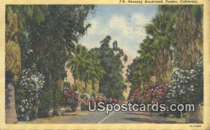Kearney Boulevard - Fresno, California CA Postcard