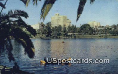Lake, General Douglas Mac Arthur Park - Los Angeles, California CA Postcard