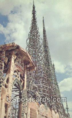 Watts Tower - Los Angeles, California CA Postcard