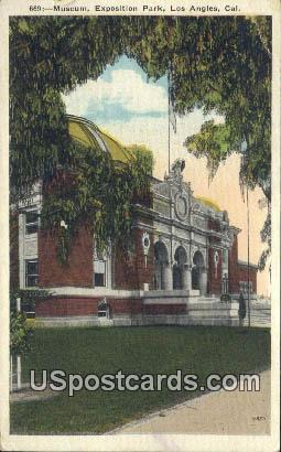 Museum, Exposition Park - Los Angeles, California CA Postcard