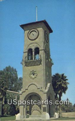 Beale Memorial Clock Tower - Bakersfield, California CA Postcard