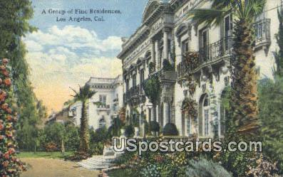 Group of Fine Residences - Los Angeles, California CA Postcard
