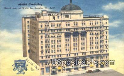 Hotel Embassy - Los Angeles, California CA Postcard