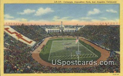 Coliseum, Exposition Park - Los Angeles, California CA Postcard