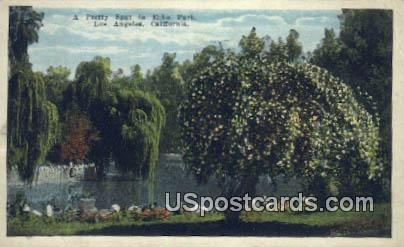 Echo Park - Los Angeles, California CA Postcard