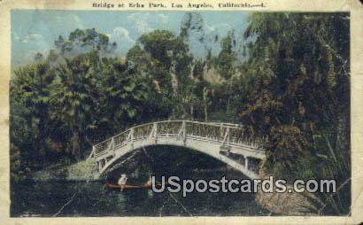 Bridge, Echo Park - Los Angeles, California CA Postcard