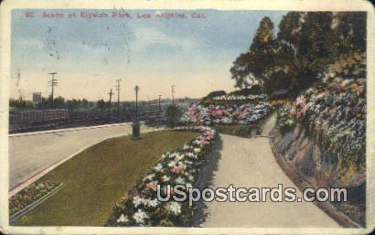 Elysian Park - Los Angeles, California CA Postcard