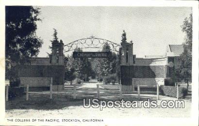 College of the Pacific - Stockton, California CA Postcard
