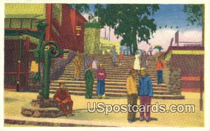 Stone Stairway - Los Angeles, California CA Postcard