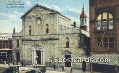 St Vibianae Catholic Cathedral - Los Angeles, California CA Postcard