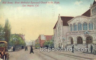 First Methodist Episcopal Church - Los Angeles, California CA Postcard