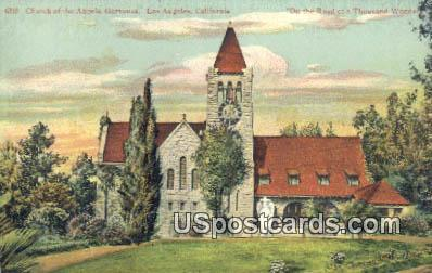 Church of the Angels - Los Angeles, California CA Postcard