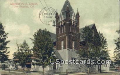 Westlake ME Church - Los Angeles, California CA Postcard