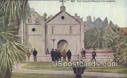 Los Angeles Mission - California CA Postcard
