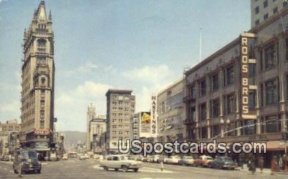 Oakland Broadway - California CA Postcard
