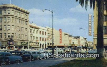 Weber Ave - Stockton, California CA Postcard