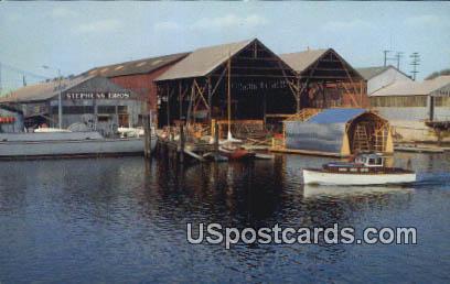 Stockton Channel - California CA Postcard