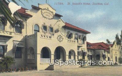 St Joseph's Home - Stockton, California CA Postcard