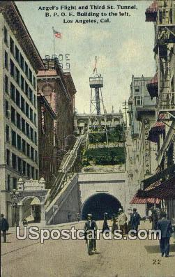 Angel's Flight - Los Angeles, California CA Postcard