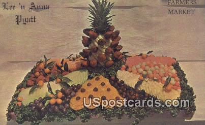 Farmers Market - Los Angeles, California CA Postcard
