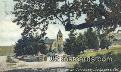 Church of the Angels at Garvanza - Los Angeles, California CA Postcard