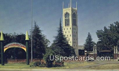 Burns Tower, University of Pacific - Stockton, California CA Postcard