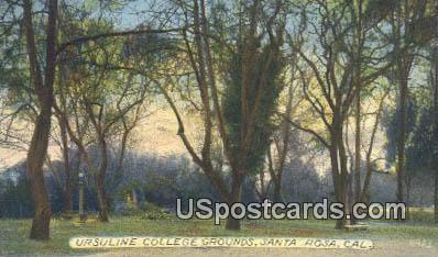 Ursuline College - Santa Rosa, California CA Postcard