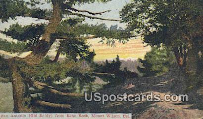 San Antonia Old Baldy, Echo Rock - Mt. Wilson, California CA Postcard