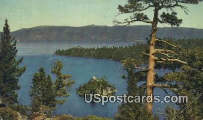 Emeral Bay - Lake Tahoe, California CA Postcard
