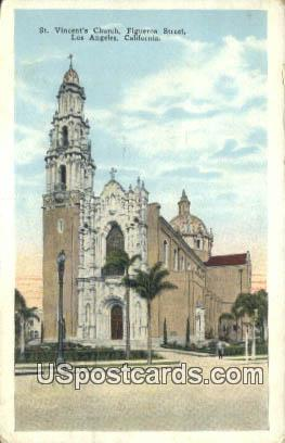 St Vincent's Church - Los Angeles, California CA Postcard