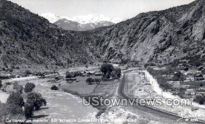 Cotopaxi on Highway 50 - Canon City, Colorado CO Postcard