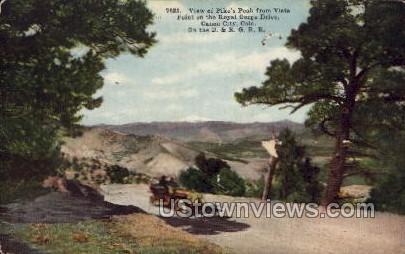 Pike's Peak Royal Gorge Drive - Canon City, Colorado CO Postcard