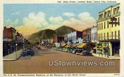 Transcontinental - Canon City, Colorado CO Postcard