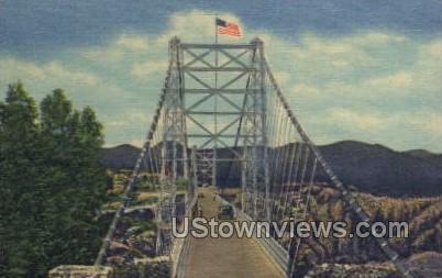 Suspension Royal Gorge Bridge - Canon City, Colorado CO Postcard