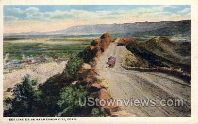 Skyline Drive - Canon City, Colorado CO Postcard