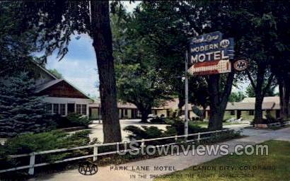 Park Lane Motel - Canon City, Colorado CO Postcard