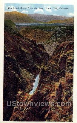 The Royal Gorge Bridge - Canon City, Colorado CO Postcard