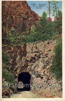 Looking Thru a 500 ft Tunnel - Canon City, Colorado CO Postcard