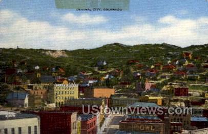 8,500 Ft - Central City, Colorado CO Postcard