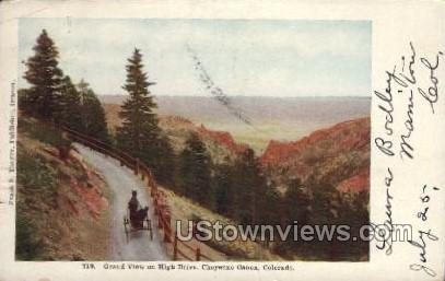 Grand View on High Drive - Cheyenne, Colorado CO Postcard