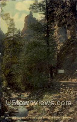 Nearing the Toll Gate - Cheyenne, Colorado CO Postcard