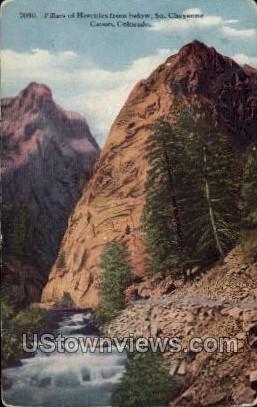 Pillars of Hercules from Below - Cheyenne, Colorado CO Postcard