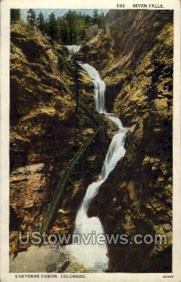 Seven Falls - Cheyenne, Colorado CO Postcard