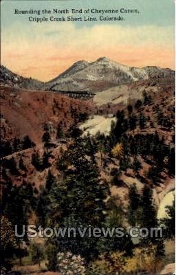 North End of Cheyenne Canon - Colorado CO Postcard