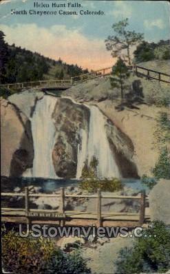 Helen Hunt Falls - Cheyenne, Colorado CO Postcard