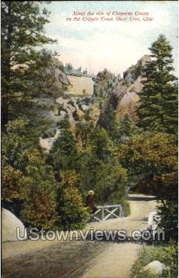 Along the Rim  - Cheyenne, Colorado CO Postcard