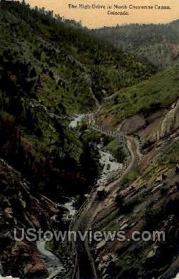 High Drive - Cheyenne, Colorado CO Postcard