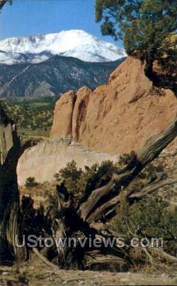 Pikes Peak - Colorado Springs Postcards, Colorado CO Postcard