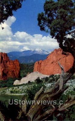 Garden of the Gods - Colorado Springs Postcards, Colorado CO Postcard